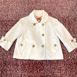 EUC Juicy Couture White Cropped Jacket Size S